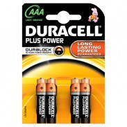 BLISTER 4 PILE DURACELL PLUS (MN2400) AAA - MINISTILO - conf. 1