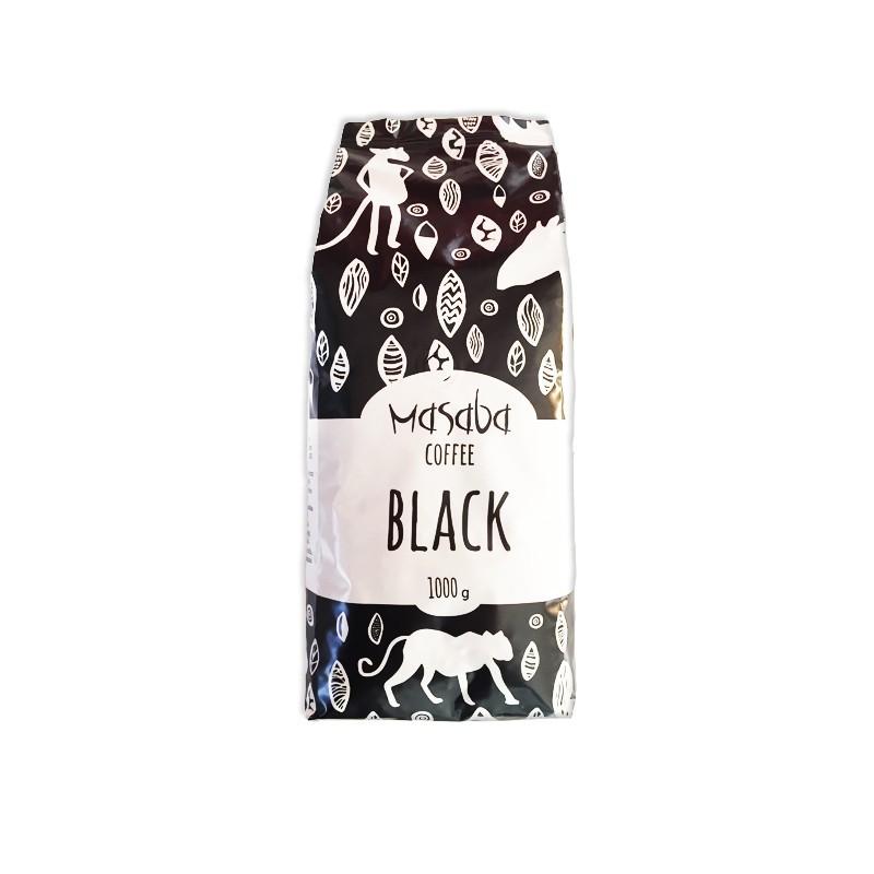1kg caffè in grani forte BLACK Masaba - conf. 6