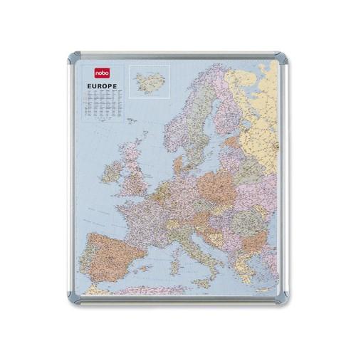 CARTA GEOGRAFICA EUROPEA MAGNETICA 95X111CM Nobo - conf. 1