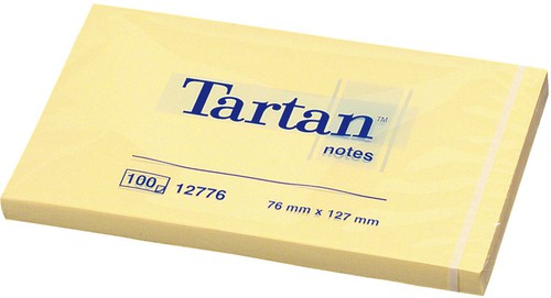 BLOCCO TARTAN 12776 GIALLO 76X127MM 100FG 63GR - conf. 12