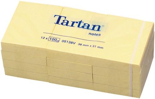 BLOCCO TARTAN 5138 GIALLO 51X38MM 100FG 63GR - conf. 12