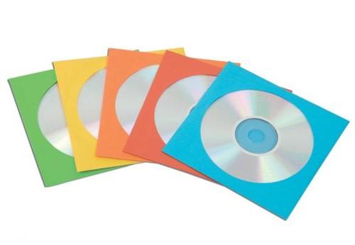 50 BUSTE CD IN CARTA COLORI ASSORT. FELLOWES - conf. 1