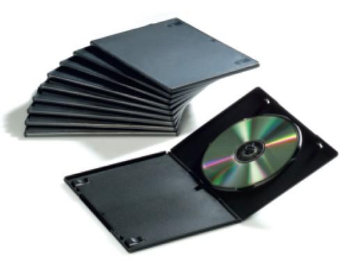 10 CUSTODIE SINGOLE SLIM PER DVD FELLOWES - conf. 1