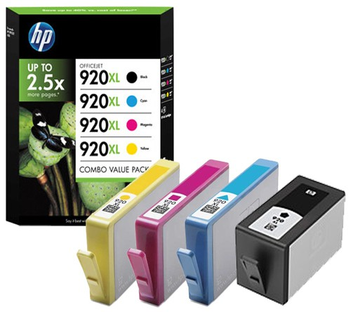COMBO PACK 4 CARTUCCE INK OFFICEJET HP 920XL -NERO GIANO MAG GIALLO - conf. 1