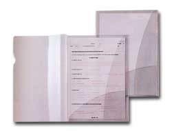 5 CARTELLINE C/TASCHE CAPRI 69/2 21X29,7 PVC CRISTALLO - conf. 1