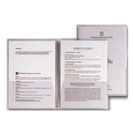 5 CARTELLINE C/TASCHE CAPRI 69/T2 21X29,7 PVC CRISTALLO - conf. 1