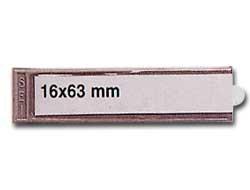 10 PORTAETICHETTE ADESIVE IES B1 16X63MM SEI - conf. 1