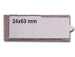 10 PORTAETICHETTE ADESIVE IES A1 24X63MM SEI - conf. 1