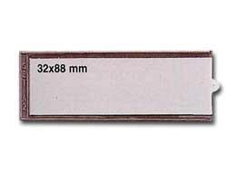 8 PORTAETICHETTE ADESIVE IES A2 32X88MM SEI - conf. 1