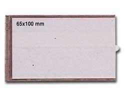 4 PORTAETICHETTE ADESIVE IES B4 65X100MM SEI - conf. 1
