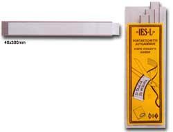 10 PORTAETICHETTE ADESIVE IES L40 40X300MM SEI - conf. 1