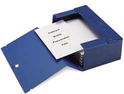 Scatola archivio Big 120 250x350mm blu c/maniglia Sei Rota - conf. 1