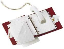 RUBRICA TELEFONICA TELEX 3 NERO 15X21CM (A5) - conf. 1