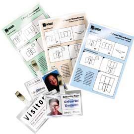 SCATOLA 100 POUCHES 125MIC 64X108MM LUGAGGE CARD c/asola lato corto - conf. 1