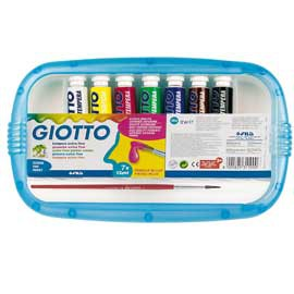 BOX 7 TUBETTI TEMPERA 12ML GIOTTO TUBO 4 ASSORTITO - conf. 1