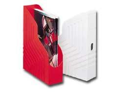 Portariviste MAGAZINE RACK 25x32cm dorso 8cm rosso REXEL - conf. 1