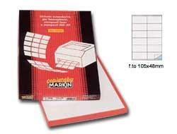 Etichetta adesiva C/504 bianca 100fg A4 105x48mm (12et/fg) Markin - conf. 1