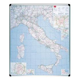 CARTA GEOGRAFICA ITALIA MAGNETICA 123X105CM Nobo - conf. 1