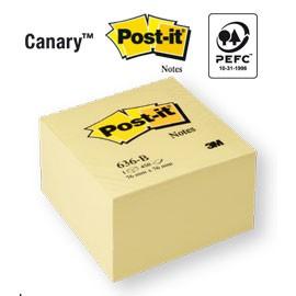 BLOCCO CUBO 450fg Post-it®Giallo Canary™ 76x76mm 636-B - conf. 1
