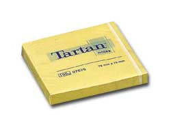 BLOCCO TARTAN 7676 GIALLO 76X76MM 100FG 63GR - conf. 12