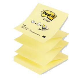 BLOCCO 100fg Post-it Z-Notes R330 Giallo Canary™ 76x76mm - conf. 12