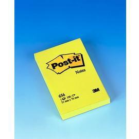 BLOCCO 100fg Post-it®Giallo Canary 76x51mm 656 - conf. 12