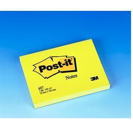 BLOCCO 100fg Post-it®Giallo Canary 76x102mm 657 - conf. 12