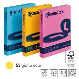 Carta RISMALUCE 140gr A4 200fg giallo sole 53 FAVINI - conf. 1
