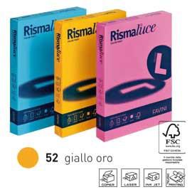 Carta RISMALUCE 140gr A4 200fg giallo oro 52 FAVINI - conf. 1