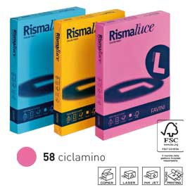 Carta RISMALUCE 140gr A4 200fg ciclamino 58 FAVINI - conf. 1
