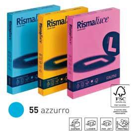 Carta RISMALUCE 140gr A4 200fg azzurro 55 FAVINI - conf. 1