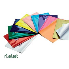 COPRIMAXI LACCATO PVC COLOROSA BLU C/ALETTE E TASCA - conf. 25