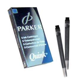 SCATOLA 5 CARTUCCE PARKER QUINK NERO PERMANENTE - conf. 1