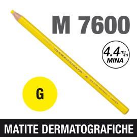 Matita dermotografica 7600 giallo UNI MITSUBISHI - conf. 12