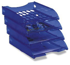 Vaschetta portacorrispondenza forate E040 blu trasp.FELLOWES - conf. 1