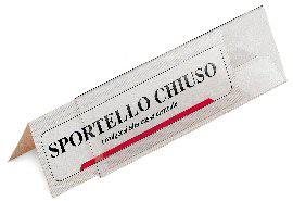 5 PORTANOME DA TAVOLO PRISMA 30X5CM - conf. 1
