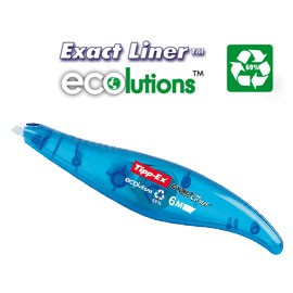 BOX 10 CORRETTORI A NASTRO 5mmx6mt ECOLUTION EXACT LINER TIPP-EX BIC - conf. 1