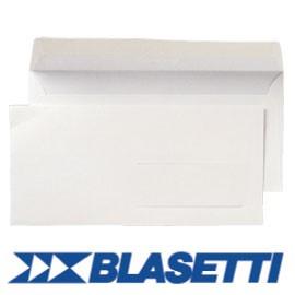 500 BUSTE BIANCHE 110X230MM 90GR S/FINESTRA C/STRIP BLASETTI - conf. 1