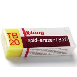 BOX 20 GOMME ROTRING TB20 RAPID ERASER PER MATITA E CHINA - conf. 1