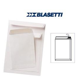 500 BUSTE A SACCO BIANCO 300X400MM 100GR C/STRIP SELF BLASETTI - conf. 1