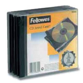 PACK 5 CUSTODIA CD SINGOLA JEWEL CASE BASE NERA - conf. 1