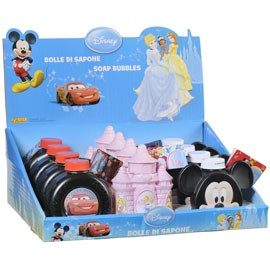 FLACONI BOLLE DI SAPONE DISNEY 207 ml. ASSORTITI - conf. 12