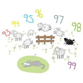 ADESIVI MURALI REMOVIBILI - DREAMING WOLF - SIZE L 48x68 WALLSKIN - conf. 1