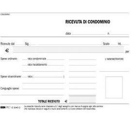 BLOCCO RICEVUTE CONDOMINIO 50/50 FOGLI AUTORIC. 9,9X17 E5540C - conf. 1