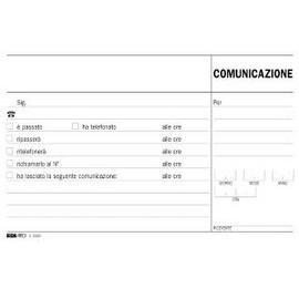 BLOCCO COMUNICAZIONI TELEFONICHE 50/50 FOGLI AUTORIC. 9,9X17 E5693A - conf. 1