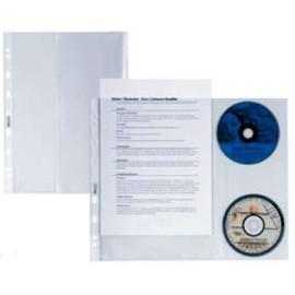 10 BUSTE FORATE ATLA DISCO 2 C/PATELLA PORTA CD SEI - conf. 1