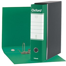 REGISTRATORE OXFORD G83 VERDE DORSO 8CM F.TO COMMERCIALE - conf. 6
