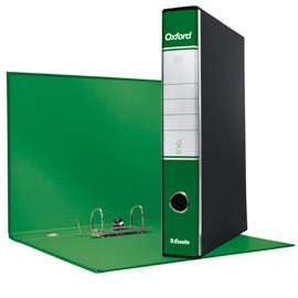 Registratore OXFORD G82 verde dorso 5cm f.to commerciale ESSELTE - conf. 8