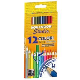 Astuccio 12 matite colorate Studio Koh.I.Noor - conf. 1