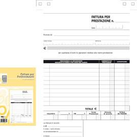 BLOCCO FATTURE PROFESSIONISTI 50/50 FOGLI AUTOR. 23X15 E5266A - conf. 1